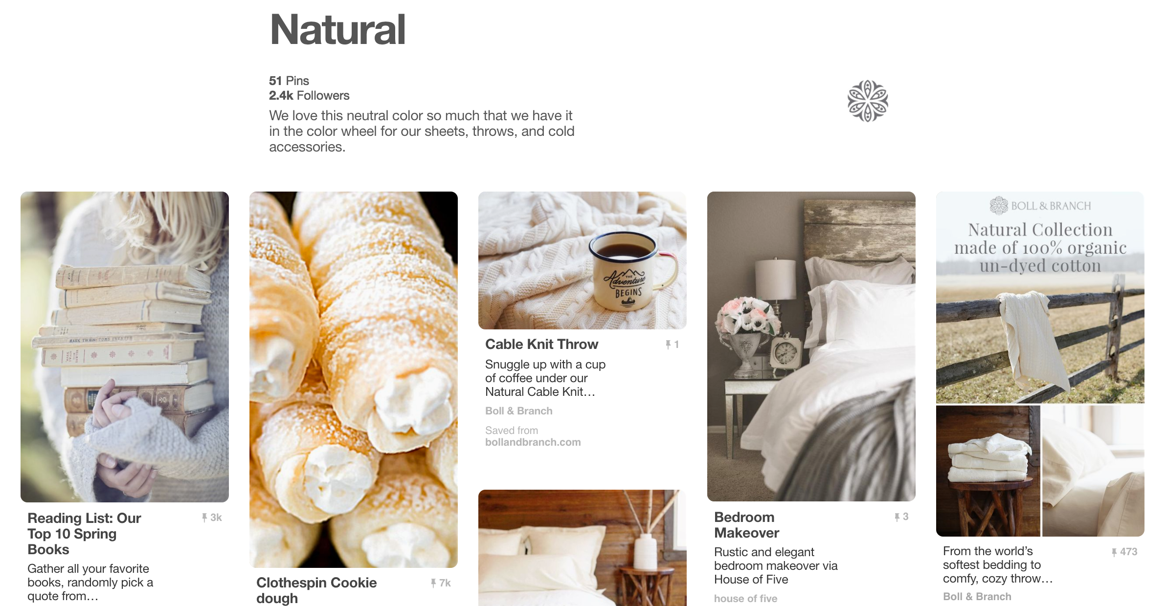 boll and branch natural pinterest board