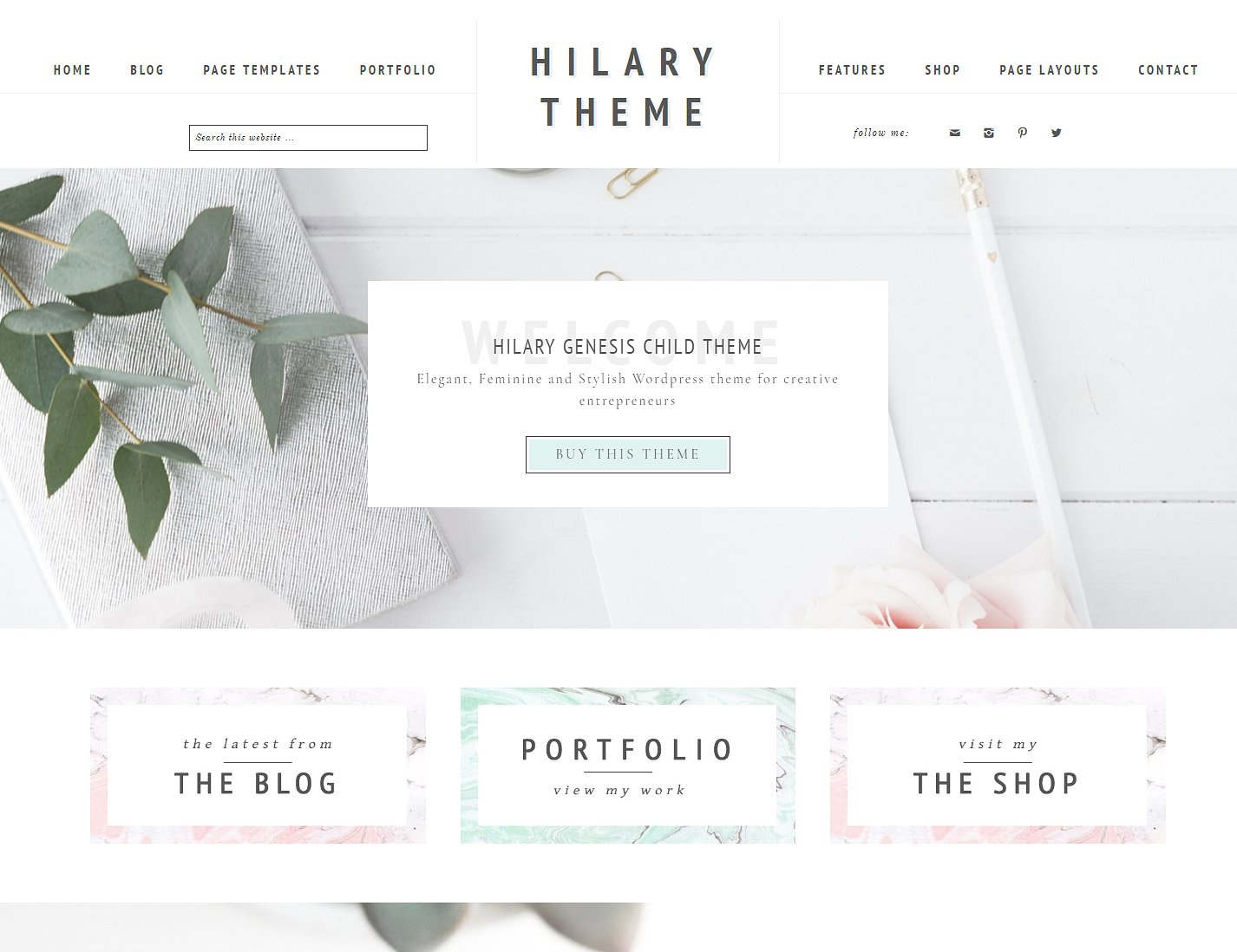 Best WordPress themes for eCommerce, hilary-ecommerce-and-portfolio-feminine-wordpress-genesis-child-theme-lovely-confetti-themes-